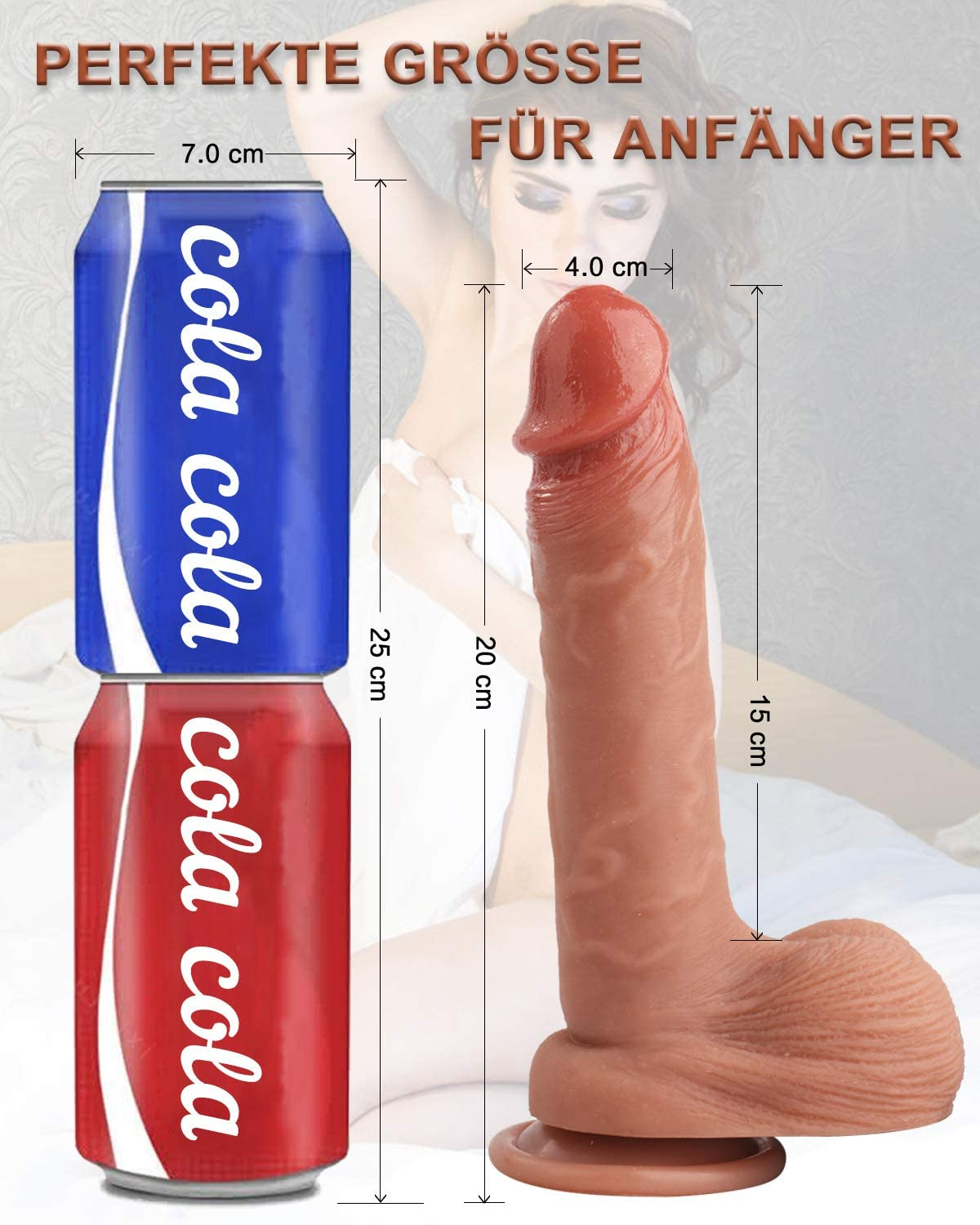 Acvioo 7.7 Inch Realistic Silicone Dildo for Beginners